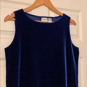Royal Blue Velvet Tank Top